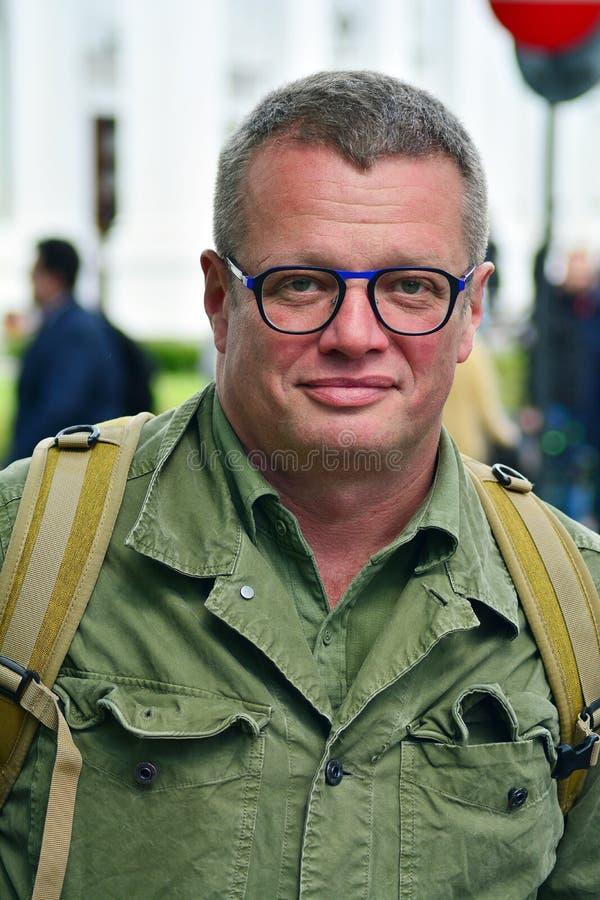 Δημοσιογράφος και πολιτικός αρθρογράφος Marcin Meller στοκ φωτογραφίες