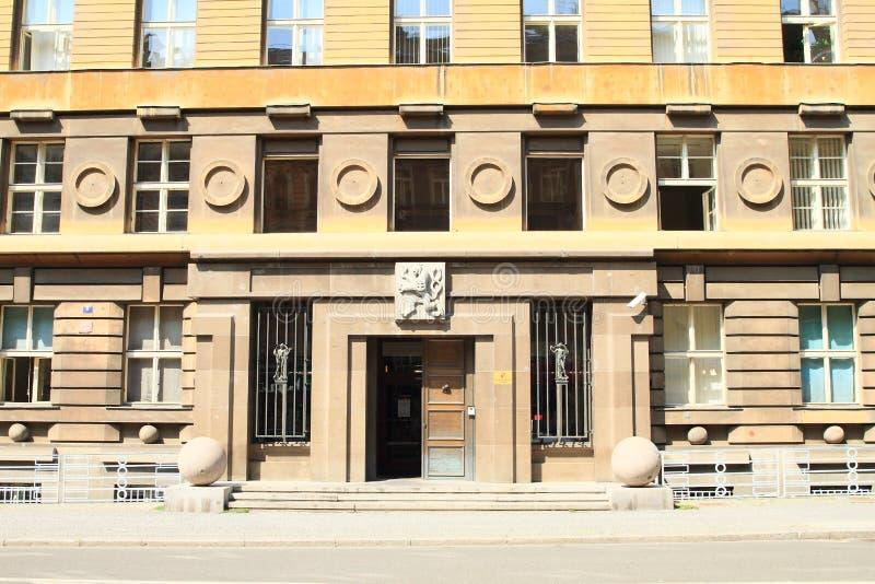 Δημοτικό δικαστήριο στην Πράγα στοκ φωτογραφία με δικαίωμα ελεύθερης χρήσης