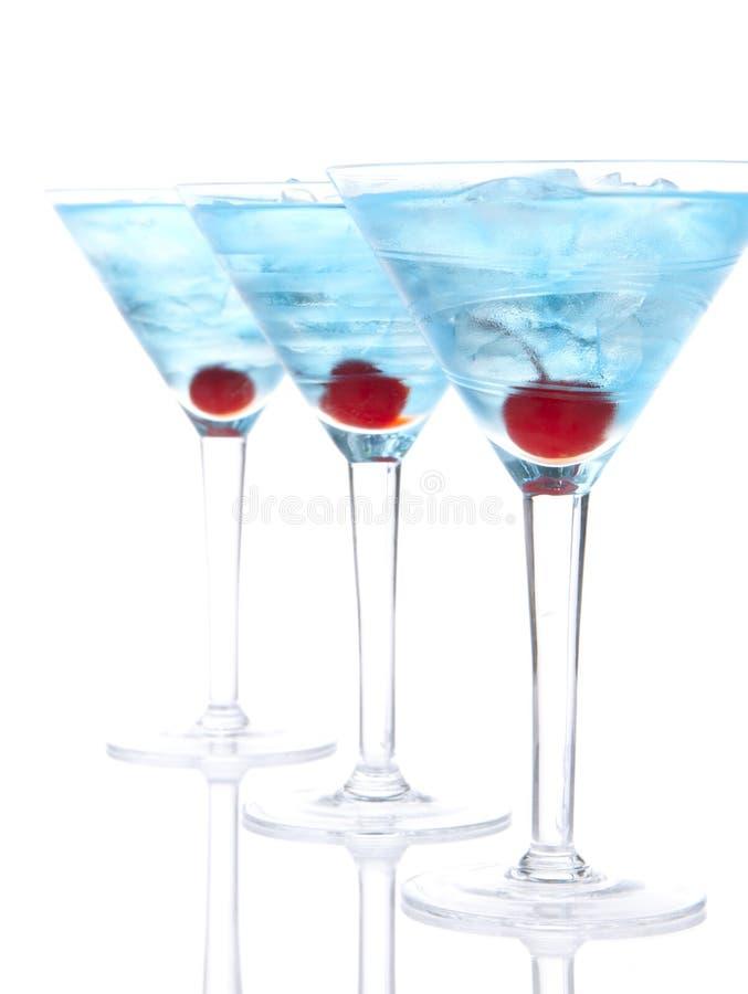 Δημοφιλής μπλε martini σύνθεση σειρών κοκτέιλ στοκ φωτογραφία με δικαίωμα ελεύθερης χρήσης