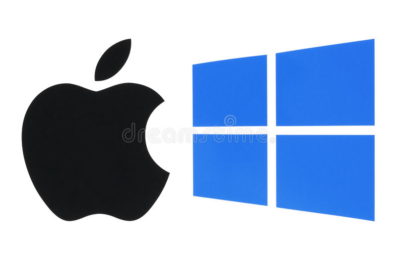Δημοφιλή λογότυπα λειτουργικών συστημάτων στοκ φωτογραφία