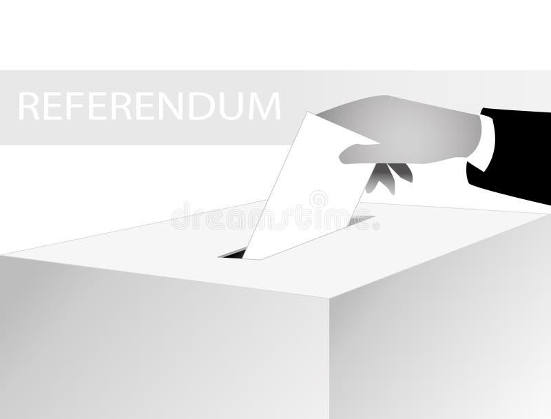 δημοψήφισμα διανυσματική απεικόνιση