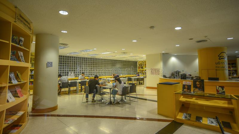 Δημόσια βιβλιοθήκη στη Μπανγκόκ, Ταϊλάνδη στοκ εικόνες
