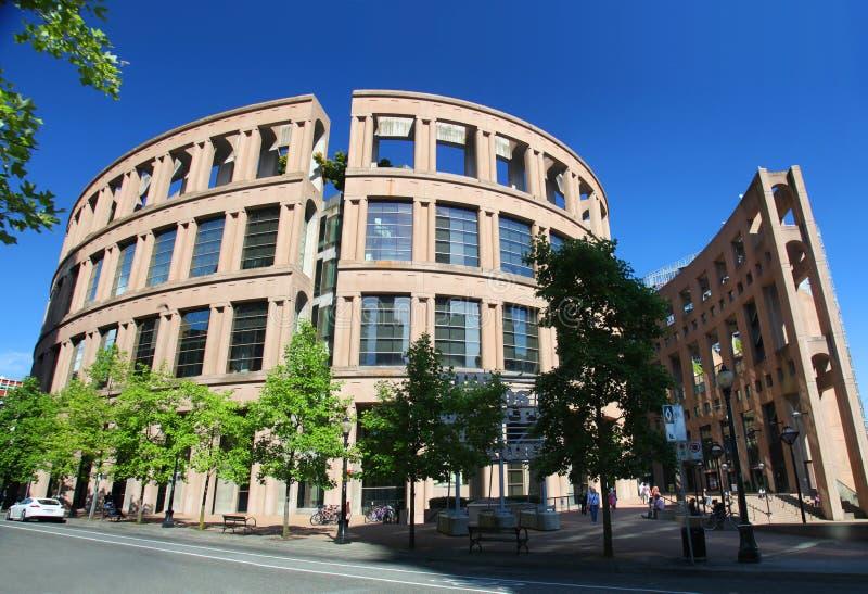 Δημόσια βιβλιοθήκη του Βανκούβερ στοκ φωτογραφία με δικαίωμα ελεύθερης χρήσης