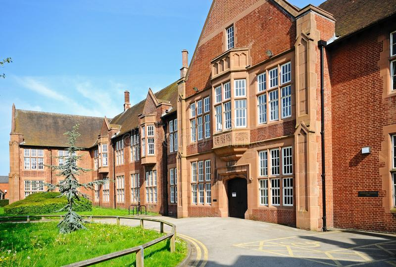 Δημόσια βιβλιοθήκη, Lichfield, Αγγλία στοκ εικόνα με δικαίωμα ελεύθερης χρήσης