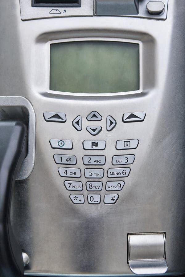Δημόσια τηλεφωνική λεπτομέρεια Παραδοσιακός κερματοδέκτης οδών Αστικό cabi στοκ φωτογραφίες με δικαίωμα ελεύθερης χρήσης