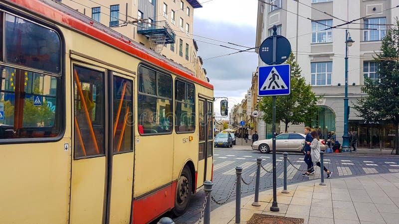 Δημόσιες συγκοινωνίες Vilnius στοκ φωτογραφίες με δικαίωμα ελεύθερης χρήσης