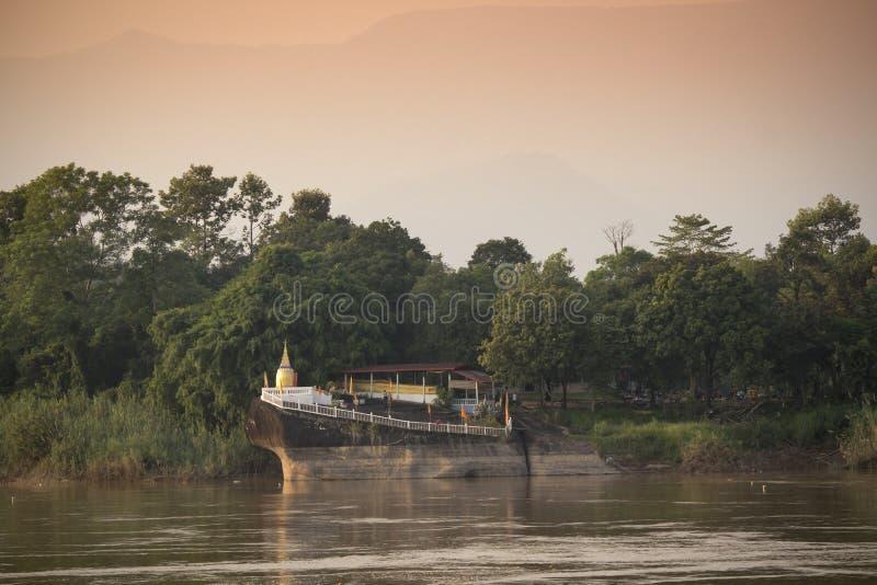 Δημόσιος ναός παγοδών στο Λάος στοκ φωτογραφίες