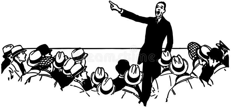 Δημόσιος ομιλητής απεικόνιση αποθεμάτων