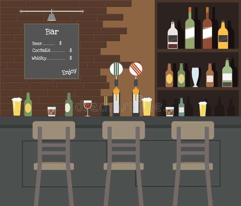 Δημόσιο μπαρ μπύρας απεικόνιση αποθεμάτων