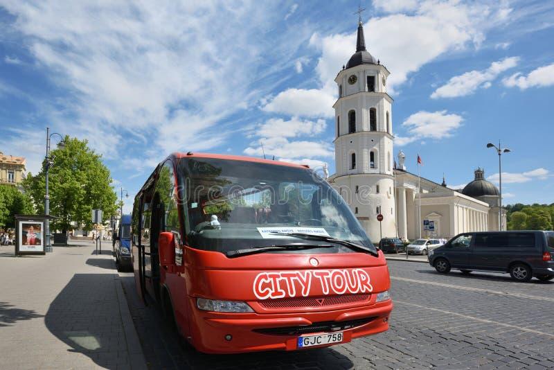 Δημόσιο trasport στο κέντρο πόλεων, Vilnius στοκ εικόνα με δικαίωμα ελεύθερης χρήσης