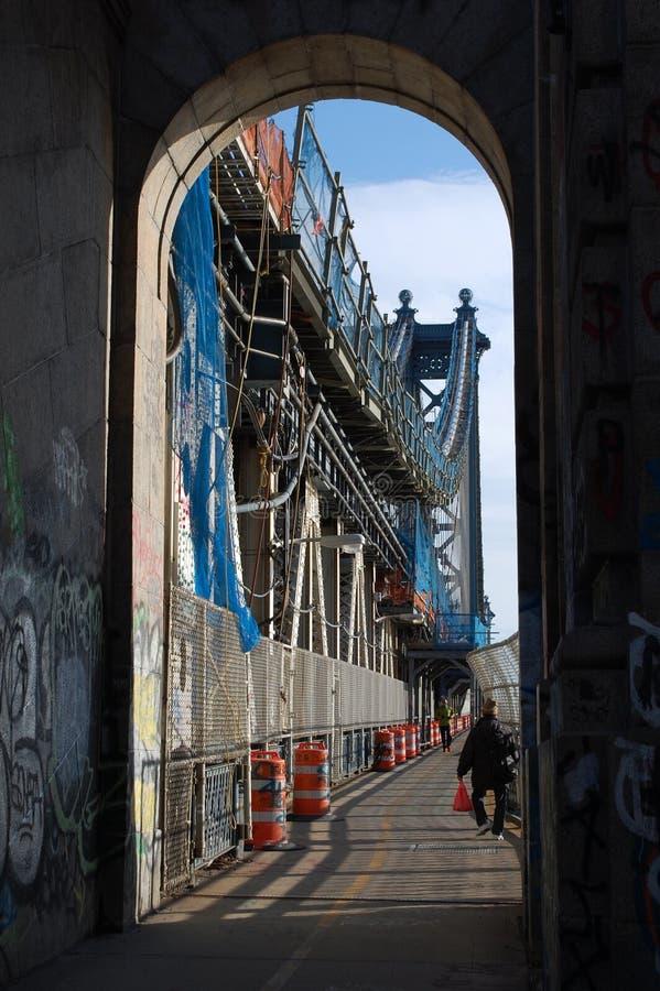 Διάβαση πεζών γεφυρών του Μανχάταν στοκ εικόνες με δικαίωμα ελεύθερης χρήσης