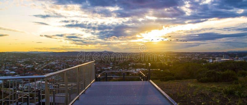 Διάβαση πεζών ηλιοβασιλέματος στοκ φωτογραφία με δικαίωμα ελεύθερης χρήσης
