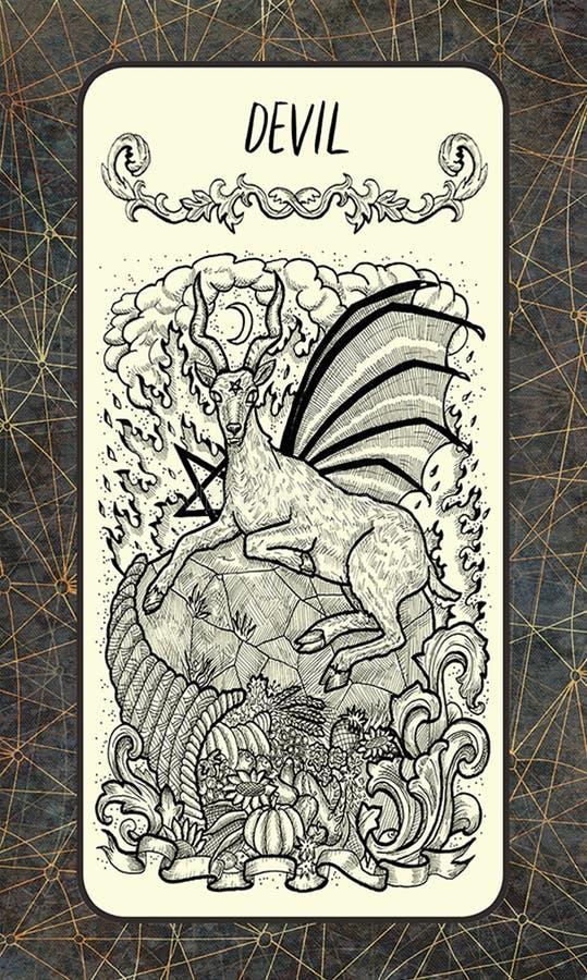 διάβολος Σημαντική κάρτα Arcana Tarot ελεύθερη απεικόνιση δικαιώματος