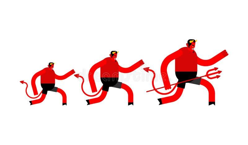 Διάβολος τρεξίματος που απομονώνεται διαφυγή Satan δαίμονας Lucifer μπουλονιών ελεύθερη απεικόνιση δικαιώματος