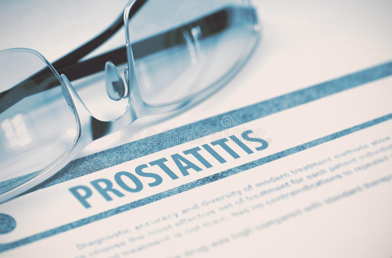 Διάγνωση - Prostatitis η έννοια βρίσκεται καθορισμένο στηθοσκόπιο χρημάτων ιατρικής τρισδιάστατη απεικόνιση στοκ εικόνες