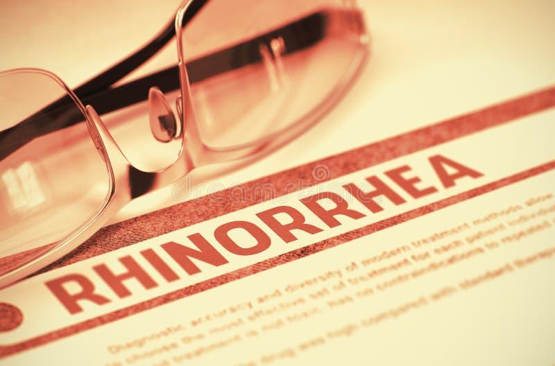 Διάγνωση - Rhinorrhea ΙΑΤΡΙΚΗ έννοια τρισδιάστατη απεικόνιση ελεύθερη απεικόνιση δικαιώματος