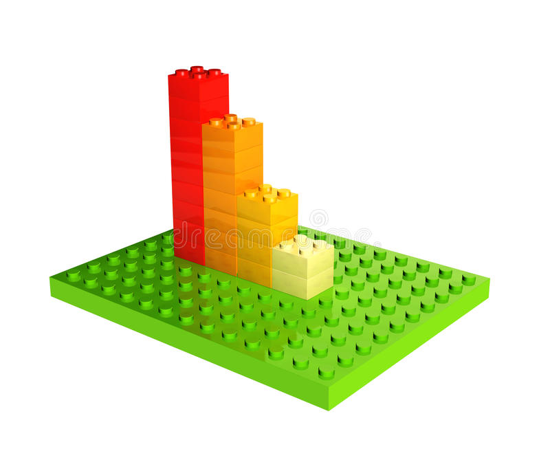 Διάγραμμα αύξησης από τους πλαστικούς φραγμούς παιχνιδιών απεικόνιση αποθεμάτων