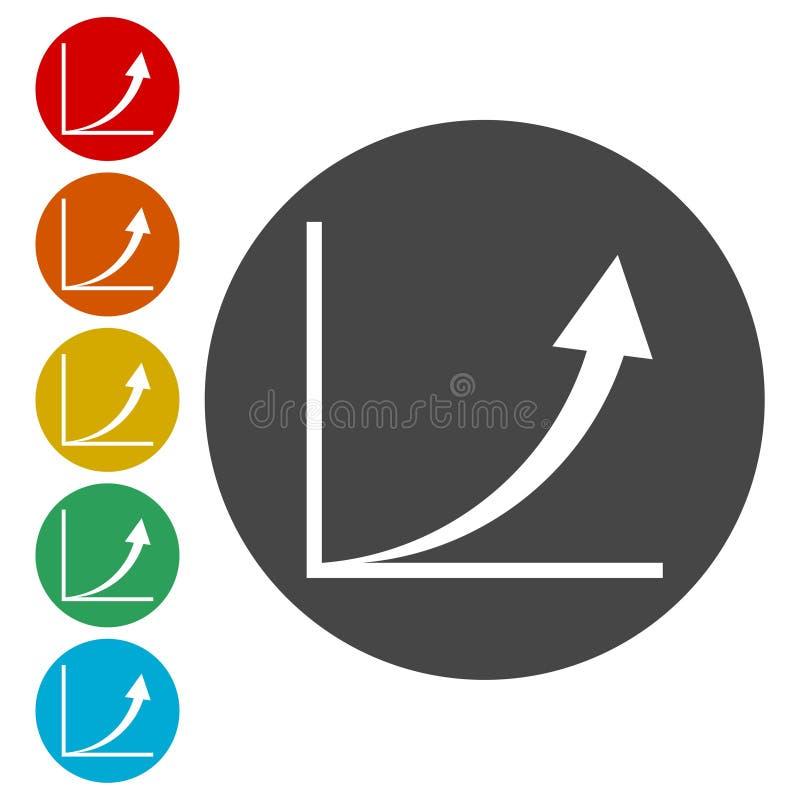 Διάγραμμα αύξησης - διανυσματικό εικονίδιο απεικόνιση αποθεμάτων