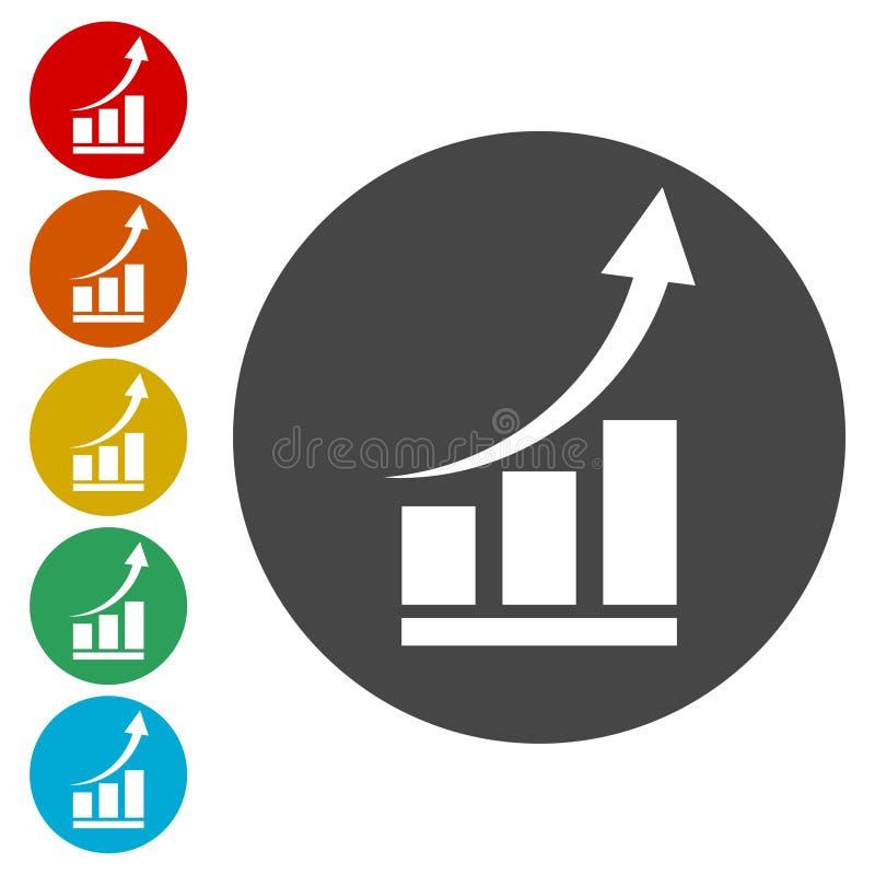Διάγραμμα αύξησης - διανυσματικό εικονίδιο διανυσματική απεικόνιση