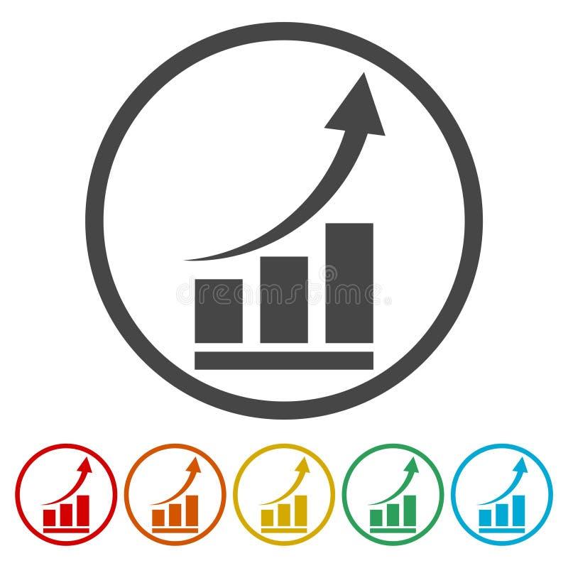 Διάγραμμα αύξησης - διανυσματικό εικονίδιο ελεύθερη απεικόνιση δικαιώματος