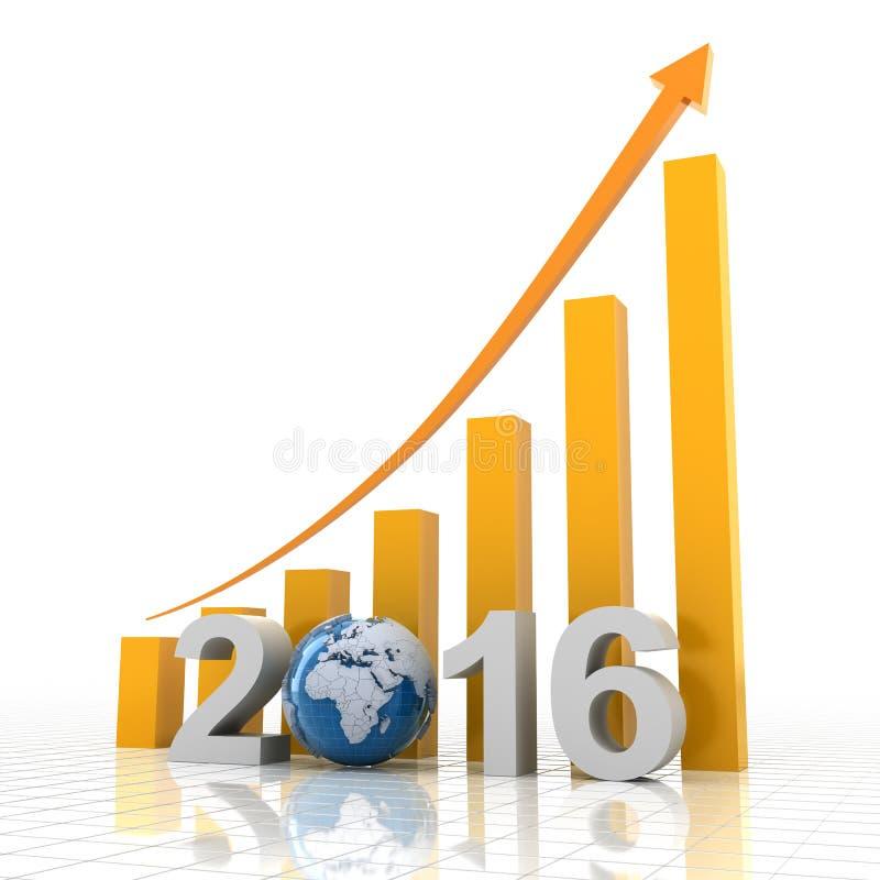 Διάγραμμα 2016 αύξησης διανυσματική απεικόνιση