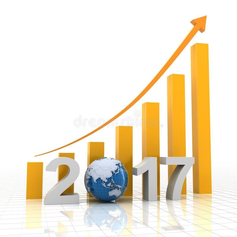 Διάγραμμα 2017 αύξησης διανυσματική απεικόνιση