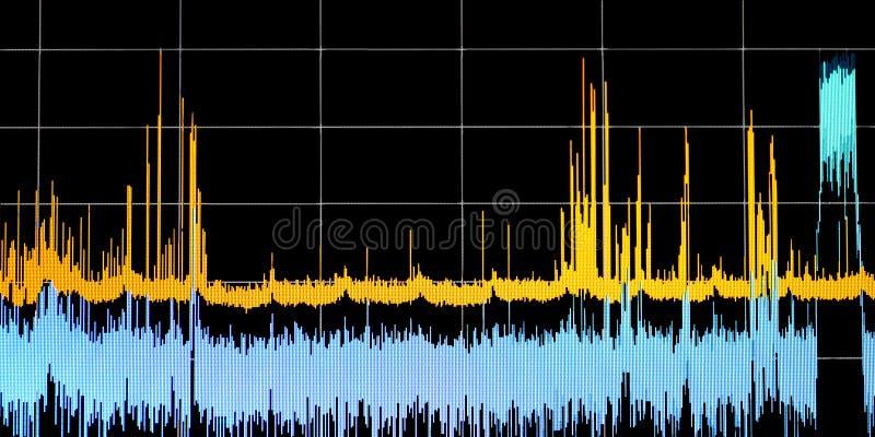Διάγραμμα γραφικής παράστασης στην οθόνη οργάνων ελέγχου, επιστημονικό μέτρησης υπόβαθρο έννοιας ανάλυσης ελέγχου εξεταστικό στοκ φωτογραφίες με δικαίωμα ελεύθερης χρήσης