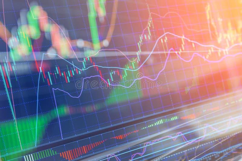 Διάγραμμα γραφικών παραστάσεων ραβδιών κεριών του busin επένδυσης χρηματιστηρίου tradin στοκ φωτογραφία με δικαίωμα ελεύθερης χρήσης