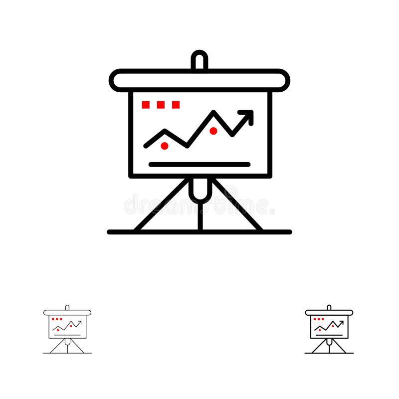 Διάγραμμα, επιχείρηση, πρόκληση, μάρκετινγκ, λύση, επιτυχία, τολμηρό και λεπτό μαύρο σύνολο εικονιδίων γραμμών τακτικής διανυσματική απεικόνιση