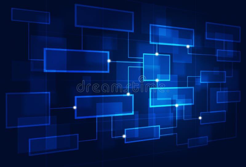 Διάγραμμα επιχειρησιακής ροής διανυσματική απεικόνιση