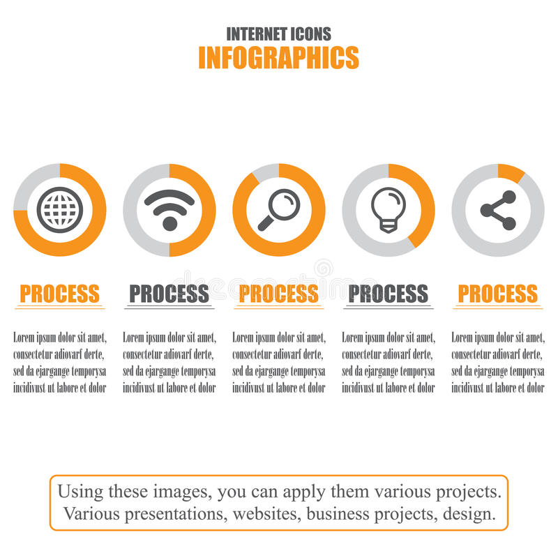 Διάγραμμα διαδικασίας Επιχειρησιακά στοιχεία όλη η οποιαδήποτε απεικόνιση μεμονωμένο Διαδίκτυο εικονιδίων στοιχείων αντιτίθεται κ απεικόνιση αποθεμάτων