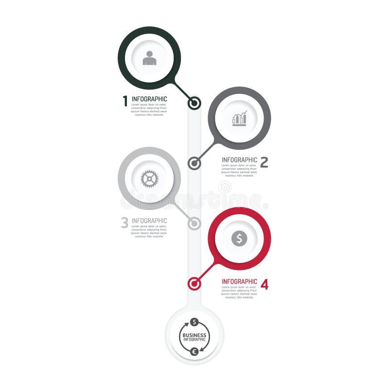 Διάγραμμα διαδικασίας επιχειρησιακών στοιχείων Αφηρημένα στοιχεία της γραφικής παράστασης, διάγραμμα διανυσματική απεικόνιση