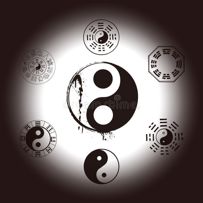 Διάγραμμα οκτώ και Tai Ji διανυσματική απεικόνιση
