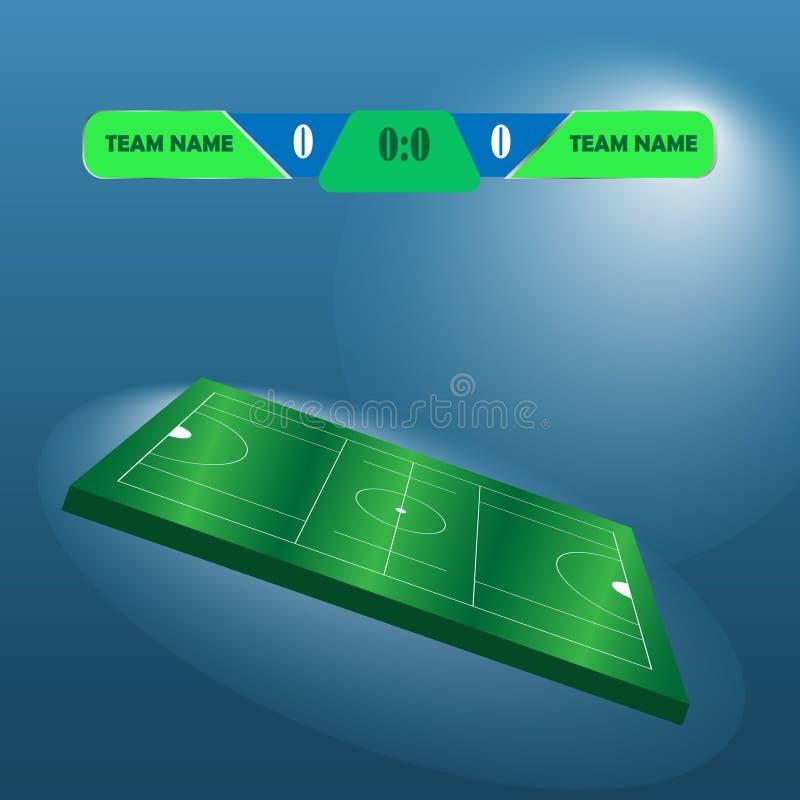 Διάγραμμα πινάκων βαθμολογίας ποδοσφαίρου ποδοσφαίρου λακρός ελεύθερη απεικόνιση δικαιώματος