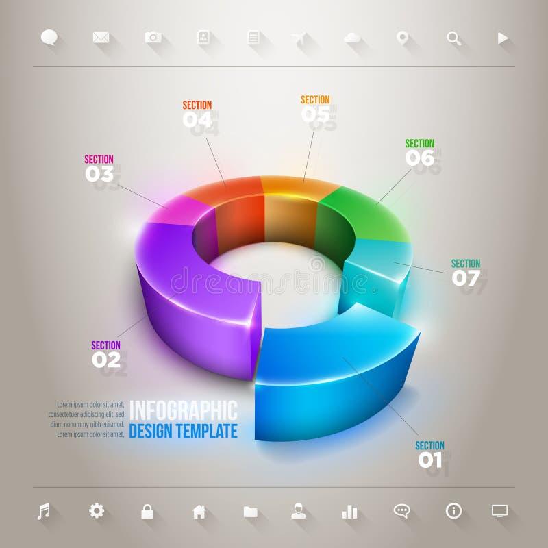 Διάγραμμα πιτών Infographic ελεύθερη απεικόνιση δικαιώματος