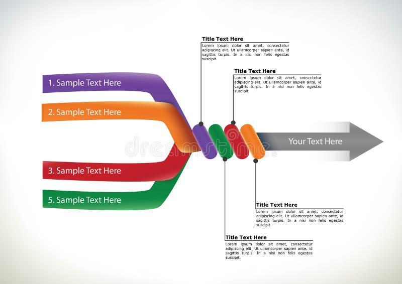 Διάγραμμα ροής παρουσίασης με το βέλος ελεύθερη απεικόνιση δικαιώματος