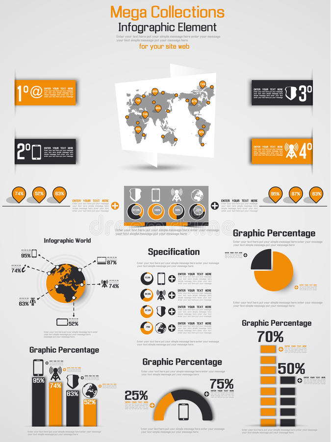 Διάγραμμα στοιχείων Infographic και γραφικός ελεύθερη απεικόνιση δικαιώματος