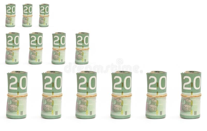 Διάγραμμα χρημάτων στοκ φωτογραφίες με δικαίωμα ελεύθερης χρήσης