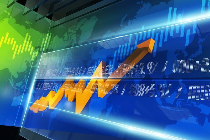 Διάγραμμα χρηματιστηρίου διανυσματική απεικόνιση