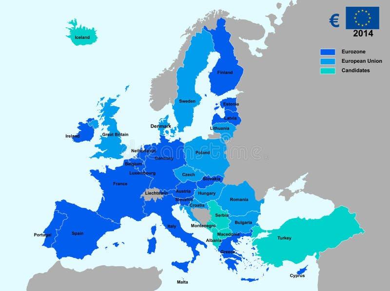 Διάγραμμα Eurozone ελεύθερη απεικόνιση δικαιώματος