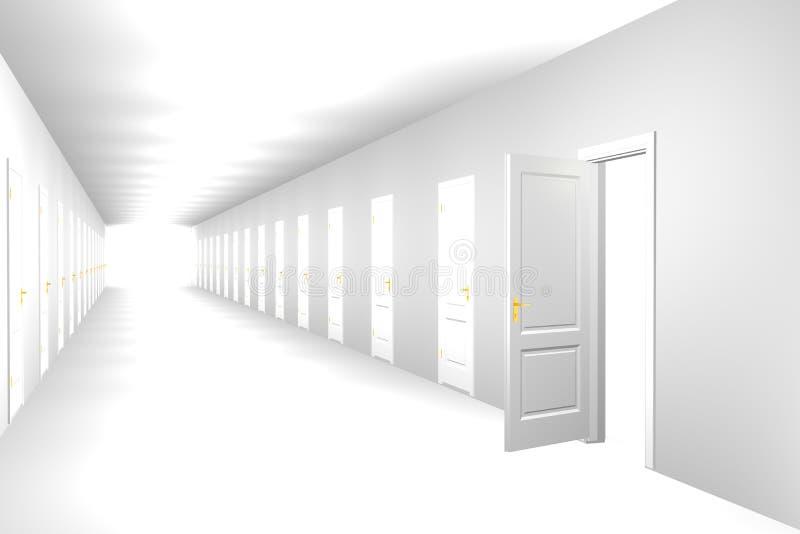 διάδρομος ατελείωτος ελεύθερη απεικόνιση δικαιώματος