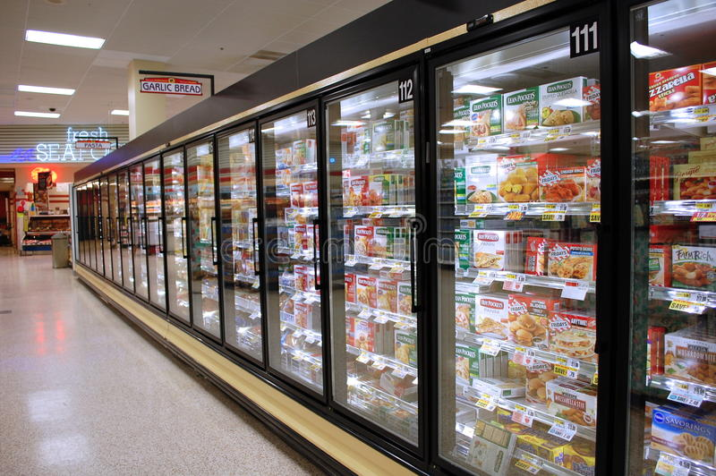 Διάδρομος παγωμένων τροφίμων στοκ εικόνες