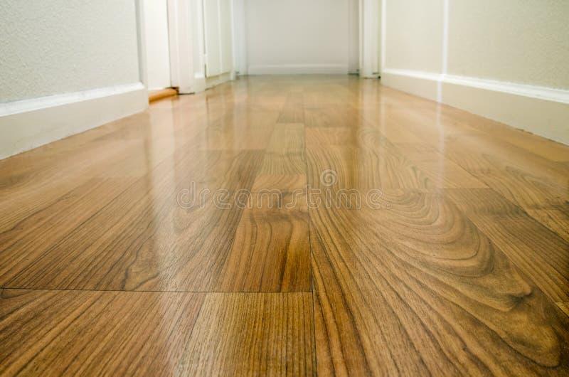 διάδρομος πατωμάτων ξύλινος στοκ φωτογραφίες