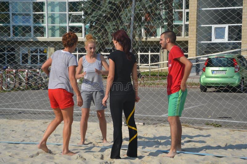 Διάλειμμα volley παραλιών στοκ φωτογραφία με δικαίωμα ελεύθερης χρήσης