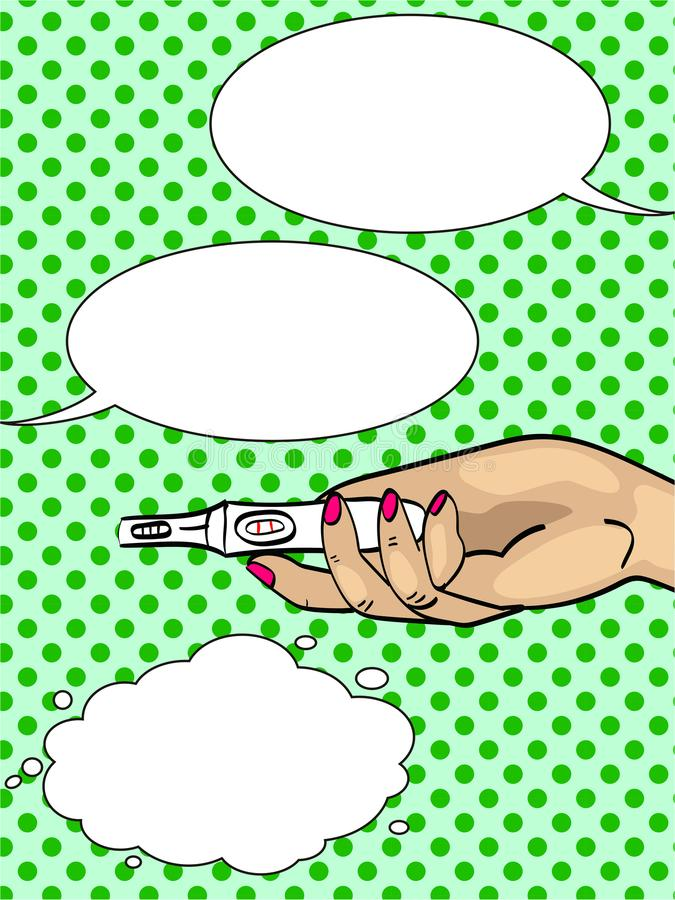 Διάλογος, φυσαλίδες κειμένων Λαϊκές ειδήσεις τέχνης της εγκυμοσύνης Αλληλογραφία μηνυμάτων στο τηλέφωνο διάνυσμα διανυσματική απεικόνιση