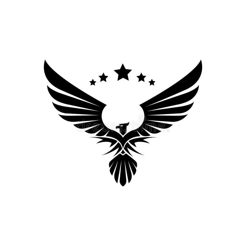 Διάνυσμα έμπνευσης σχεδίου λογότυπων αετών ελεύθερη απεικόνιση δικαιώματος