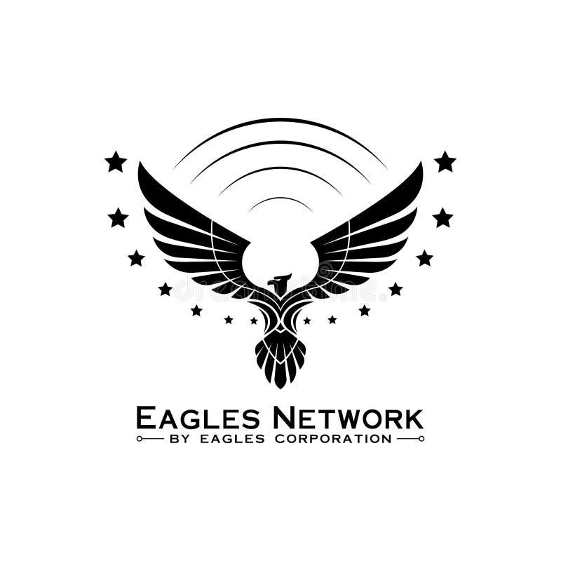 Διάνυσμα έμπνευσης σχεδίου λογότυπων αετών απεικόνιση αποθεμάτων