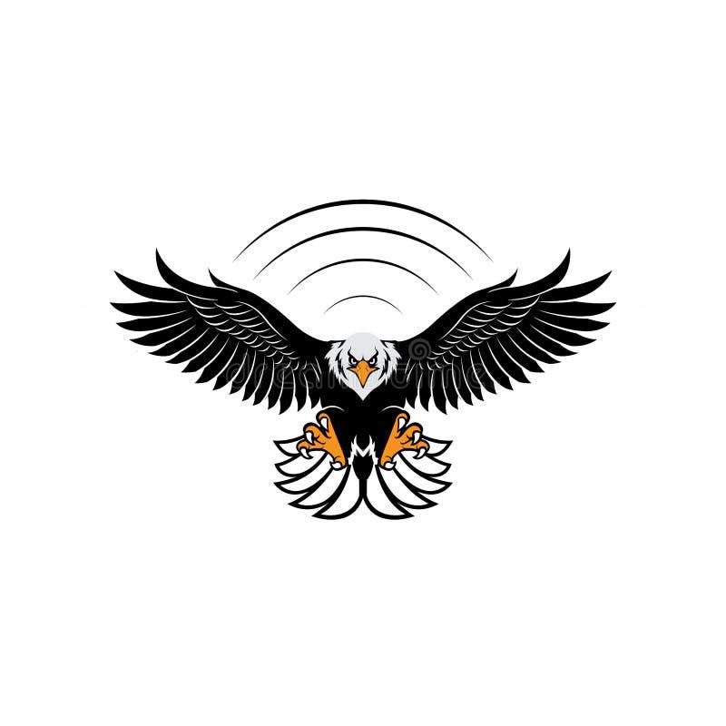 Διάνυσμα έμπνευσης σχεδίου λογότυπων αετών διανυσματική απεικόνιση