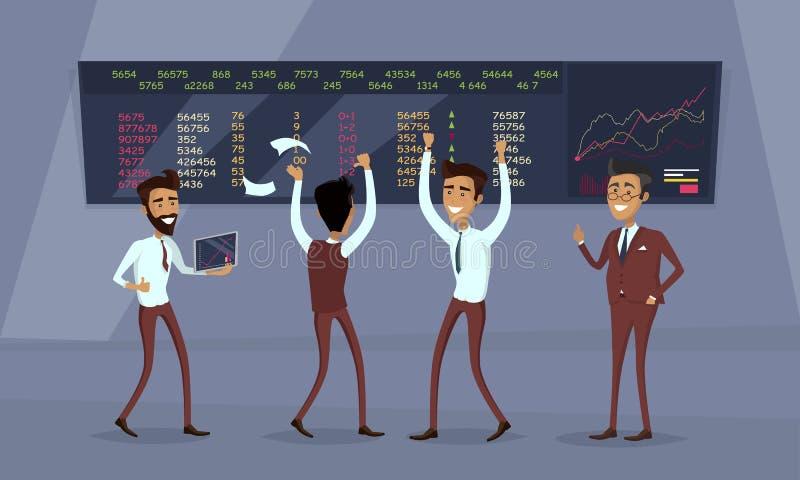 Διάνυσμα έννοιας επιτυχίας εργασίας επιχειρησιακής ομάδας διανυσματική απεικόνιση