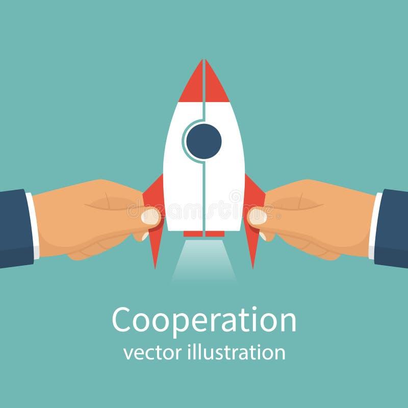 Διάνυσμα έννοιας συνεργασίας απεικόνιση αποθεμάτων